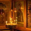Stock Photo: Divine service in orthodox temple