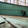 Stock Photo: Min abandoned swimming pool