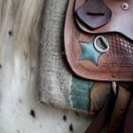 Saddle on a horse — Stock Photo #42261221