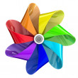 Multicolour pinwheel — Stock Photo