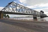 Truss bridge in Arkhangelsk — Stock Photo