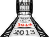 Approaching to the new year 2014 — Stock Photo