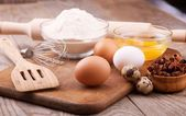 Ingredients for dough — Stock Photo