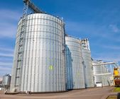Agricultural grain elevator — Stock Photo