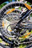 Mountain bike wheel — Stock Photo