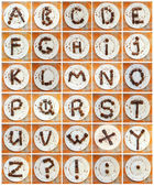 """Chocolate Alphabet"" — Stock Photo"