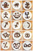 Symbols of chocolate — Stock Photo