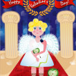 Cupid. Valentine's Day - Stock Vector