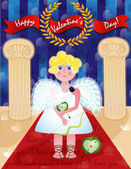 Cupid. Valentine's Day — Stock Vector