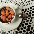 Hot chocolate with almonds — Stock Photo #28185937