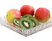 Apples and kiwi. — Stock Photo