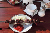 Shish kebab from mutton. — Stock Photo