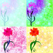 A set of background and flower — Stock Photo