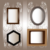 Four frames. — Stock Vector
