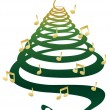 Musical Christmas tree — Stock Vector