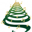 Royalty-Free Stock Vector Image: Musical Christmas tree