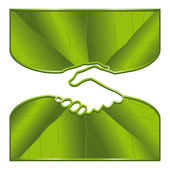 Ecology handshake — Stock Vector