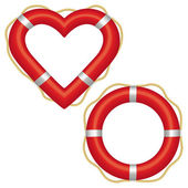 Lifebuoy heart — Stock Vector