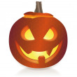 Jack o lantern, white background — Stock Photo