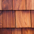 Cedar shingle detail — Stock Photo