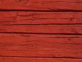 Červená trámové zeď — Stock fotografie