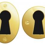 Brass keyhole — Stock Vector #16890979
