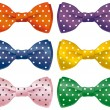 Fun bow ties — Stock Vector