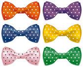 Fun bow ties — Stock Vector