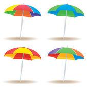 Beach umbrella variety — Stock Vector
