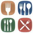 Dining symbols — Stockvectorbeeld