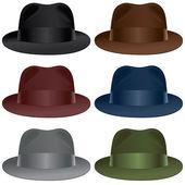 Fedora hat — Stock Vector