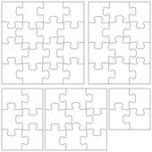 Puzzle template — Stock Vector