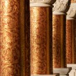 Columns in an ancient orthodox monastery — Stock Photo