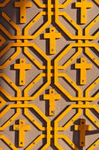 Orthodox pattern with crosses — Stock Photo