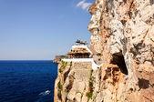 Cova d en Xoroi, cove in Cala en Porter, Minorca,Balearic island — Stock Photo