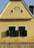 Facade of a countryside house in Transylvania — Stock Photo