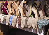 Handmade wool socks — Stock Photo