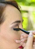 Beautiful girl model, professional make-up — Stock Photo