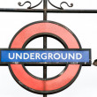 Stock Photo: London Underground subway sign