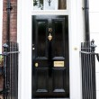 Traditional English victorian front door — Stock fotografie