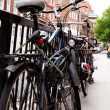 Foto de Stock  : Bicycles parked on london's street