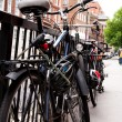 Stock Photo: Bicycles parked on london's street