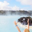 Beautiful young woman in Blue Lagoon geothermal spring , Iceland — Stock Photo #38308367