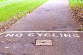 No hay señales de ciclismo — Foto de Stock