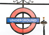 London Underground subway sign — Stock Photo