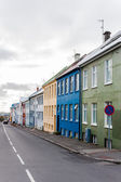 Casas coloridas, reykjavik, Islândia — Fotografia Stock