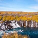Hraunfossar waterfall, Iceland — Stock Photo #38505501