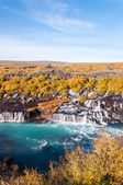 Hraunfossar waterfall, Iceland — Foto Stock