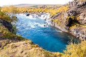Hraunfossar waterfall, Iceland — Stock Photo