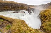 Cachoeira Gullfoss hvita Rio - Islândia — Fotografia Stock